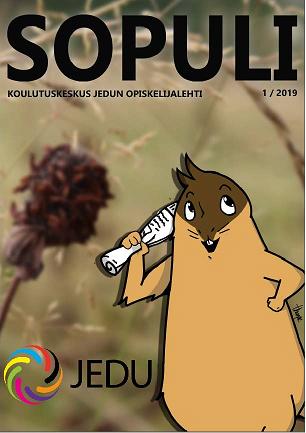 Opiskelijalehti Sopulin kansi 2019